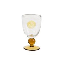四件套气泡高脚冷水玻璃杯