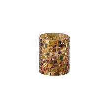 Mosaic 柱状贴片玻璃烛台